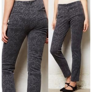 Anthropologie Cartonnier Charlie Ankle Velvet Pant